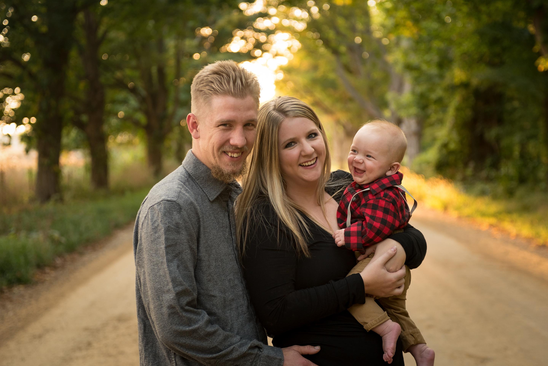 Chesapeake family photographer, Grand Rapids photographer, family and toddler fall photo